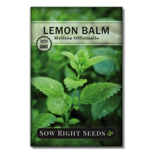 Lemon Balm seed packet front